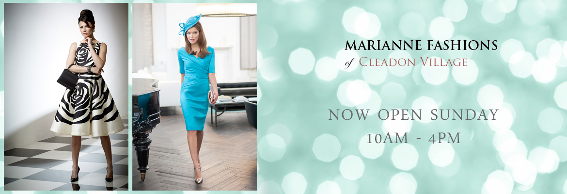 Marianne Fashions mother of the bride open sunday 10am - 4pm